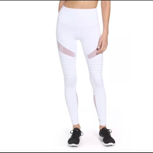 0b591fbcc07fe Zella Pants | Nwt White Moto Athletic Leggings Size M | Poshmark
